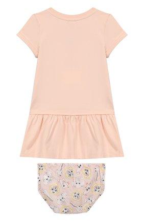 Женский комплект из хлопкового платья и шорт KENZO светло-розового цвета, арт. KN30013/2A | Фото 2