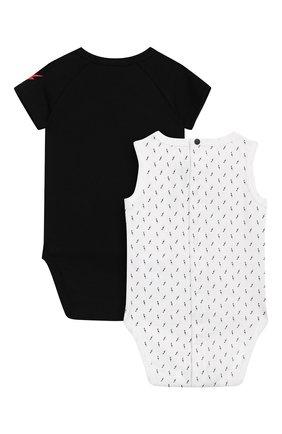 Детское комплект из двух хлопковых боди GIVENCHY черно-белого цвета, арт. H98047 | Фото 2