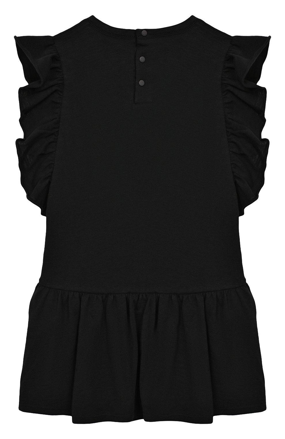 Женский хлопковое платье GIVENCHY черного цвета, арт. H02039/6M-18M   Фото 2