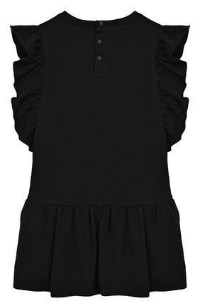 Женский хлопковое платье GIVENCHY черного цвета, арт. H02039/6M-18M | Фото 2