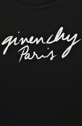 Женский хлопковое платье GIVENCHY черного цвета, арт. H02039/6M-18M   Фото 3