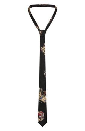 Детский шелковый галстук DOLCE & GABBANA черного цвета, арт. LB6A67/G0TAV | Фото 1