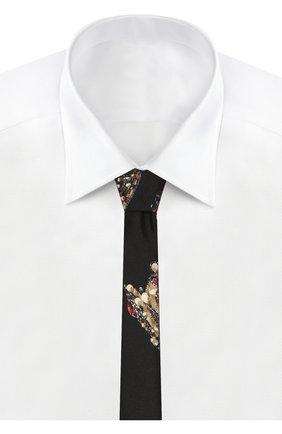 Детский шелковый галстук DOLCE & GABBANA черного цвета, арт. LB6A67/G0TAV | Фото 2