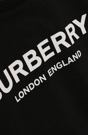 Детское комплект из 4-х хлопковых предметов BURBERRY черно-белого цвета, арт. 8009332   Фото 8