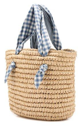 Детская плетеная сумка POLO RALPH LAUREN бежевого цвета, арт. 400738303 | Фото 2