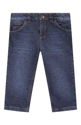 Детские джинсы с потертостями DOLCE & GABBANA синего цвета, арт. L1JPR1/G7SEQ | Фото 1