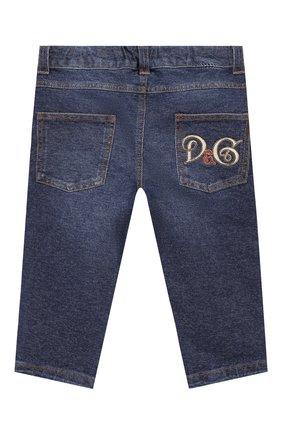 Детские джинсы с потертостями DOLCE & GABBANA синего цвета, арт. L1JPR1/G7SEQ | Фото 2