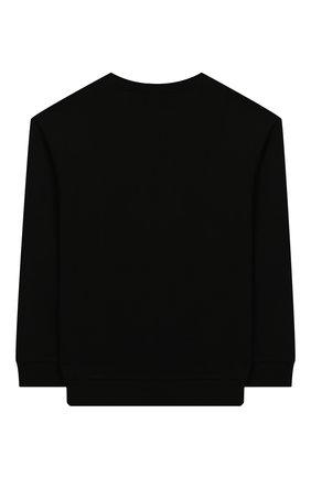 Детский хлопковый свитшот GUCCI черного цвета, арт. 543894/XJATZ | Фото 2