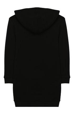 Детское хлопковое платье с капюшоном GUCCI черного цвета, арт. 532788/X3G97 | Фото 2