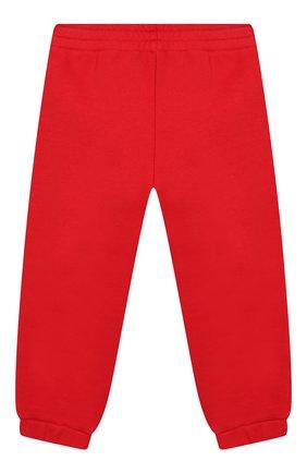 Детские хлопковые джоггеры GUCCI красного цвета, арт. 509179/X3L00 | Фото 2