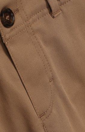 Детские хлопковые брюки GUCCI бежевого цвета, арт. 475408/XBB56 | Фото 3
