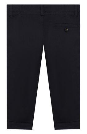 Детские хлопковые брюки GUCCI синего цвета, арт. 475408/XBB56 | Фото 2