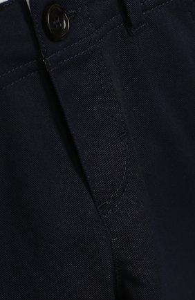 Детские хлопковые брюки GUCCI синего цвета, арт. 475408/XBB56   Фото 3