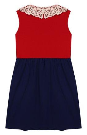 Детское хлопковое платье GUCCI разноцветного цвета, арт. 544054/XJAL0 | Фото 2