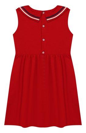 Детское хлопковое платье GUCCI красного цвета, арт. 544057/XJALP | Фото 2
