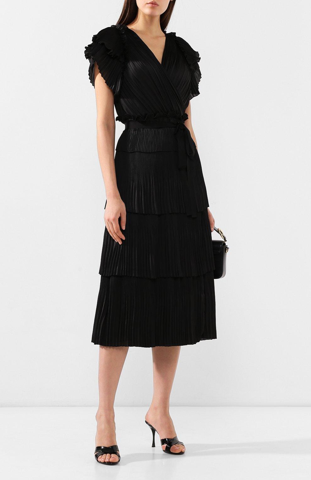 Кожаные мюли Keira Dolce & Gabbana черные | Фото №2