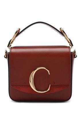 Женская сумка chloé c mini CHLOÉ светло-коричневого цвета, арт. CHC19US193A37 | Фото 1