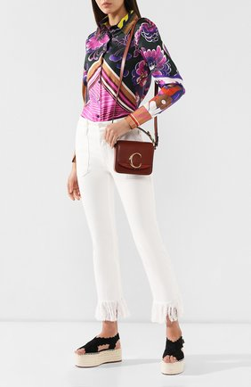 Женская сумка chloé c mini CHLOÉ светло-коричневого цвета, арт. CHC19US193A37 | Фото 2