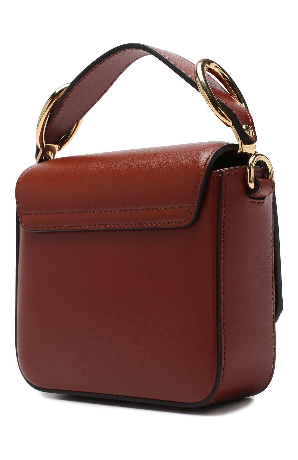 Женская сумка chloé c mini CHLOÉ светло-коричневого цвета, арт. CHC19US193A37 | Фото 3