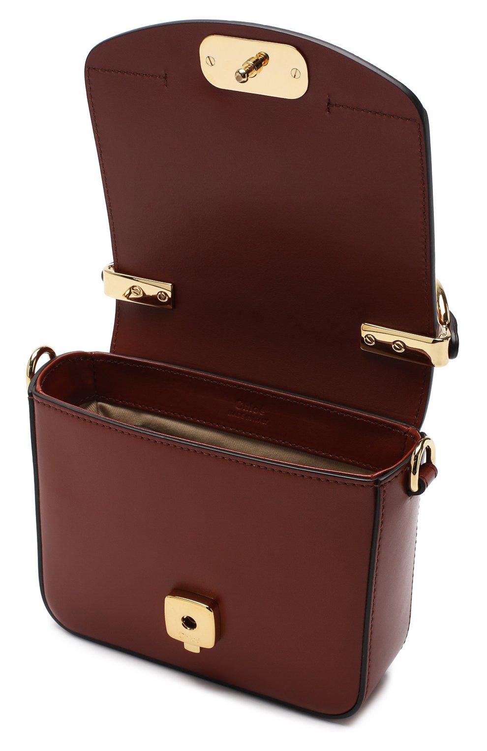 Женская сумка chloé c mini CHLOÉ светло-коричневого цвета, арт. CHC19US193A37 | Фото 4