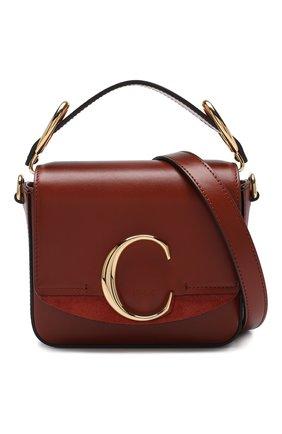 Женская сумка chloé c mini CHLOÉ светло-коричневого цвета, арт. CHC19US193A37 | Фото 5