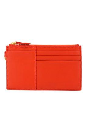 Женский кожаный футляр для кредитных карт BOTTEGA VENETA оранжевого цвета, арт. 567190/V0056 | Фото 1