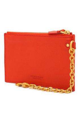 Женский кожаный футляр для кредитных карт BOTTEGA VENETA оранжевого цвета, арт. 567190/V0056 | Фото 2
