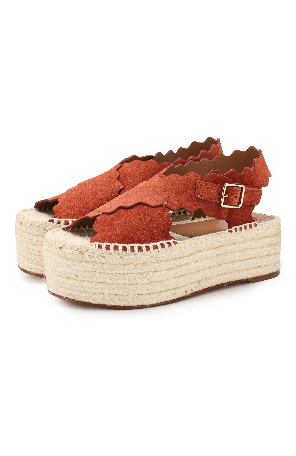 Замшевые сандалии Lauren | Фото №1