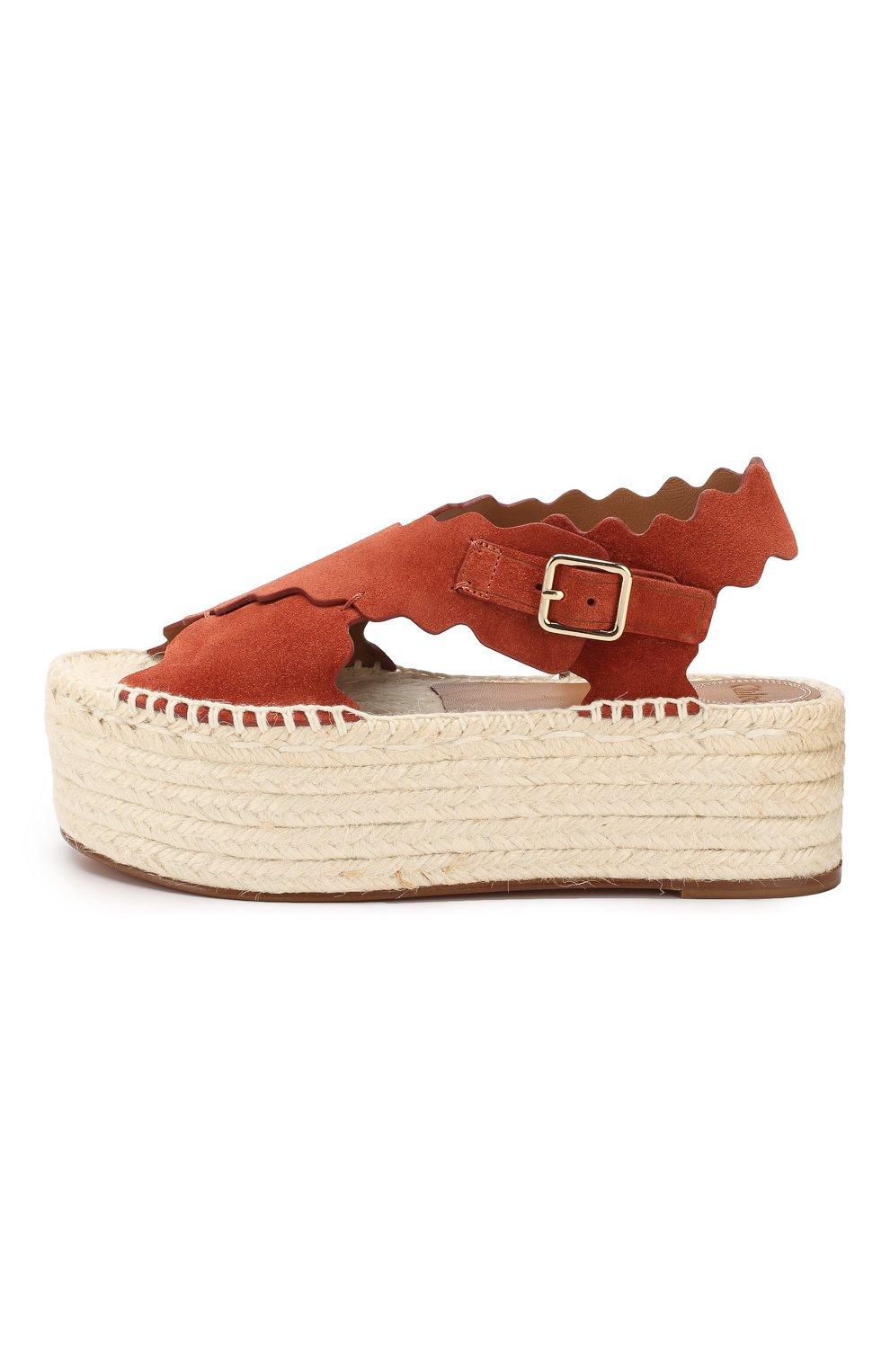 Замшевые сандалии Lauren Chloé светло-коричневые | Фото №3