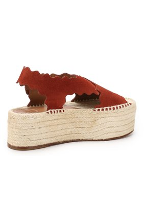 Замшевые сандалии Lauren Chloé светло-коричневые | Фото №4