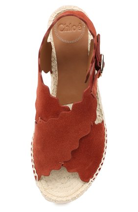 Замшевые сандалии Lauren Chloé светло-коричневые | Фото №5