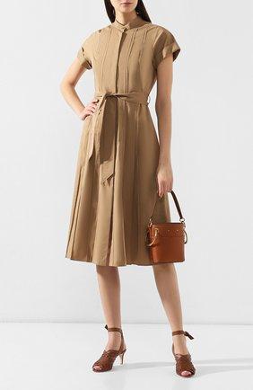 Женские кожаные босоножки kristin  LORO PIANA коричневого цвета, арт. FAI6217 | Фото 2