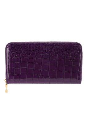 Женские кошелек из кожи крокодила RUBEUS MILANO фиолетового цвета, арт. арт. 06 | Фото 1