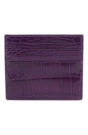Женский футляр для кредитных карт из кожи крокодила RUBEUS MILANO фиолетового цвета, арт. арт. 01 | Фото 1