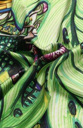Женский шелковый платок RUBEUS MILANO зеленого цвета, арт. RUB01 | Фото 2