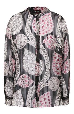 Шелковая блузка с принтом | Фото №1