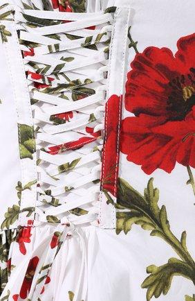 Хлопковое платье Alexander McQueen белое   Фото №5