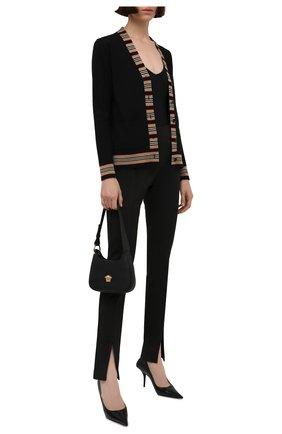 Женский шерстяной кардиган BURBERRY черного цвета, арт. 8008953 | Фото 2