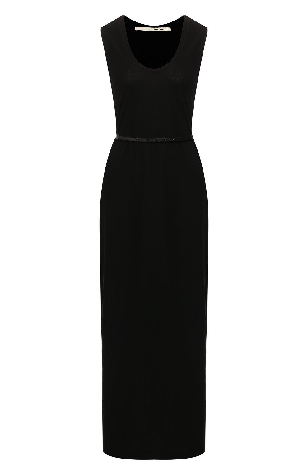 Женское хлопковое платье ISABEL BENENATO черного цвета, арт. DJ14S19 | Фото 1