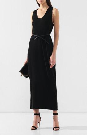 Женское хлопковое платье ISABEL BENENATO черного цвета, арт. DJ14S19 | Фото 2