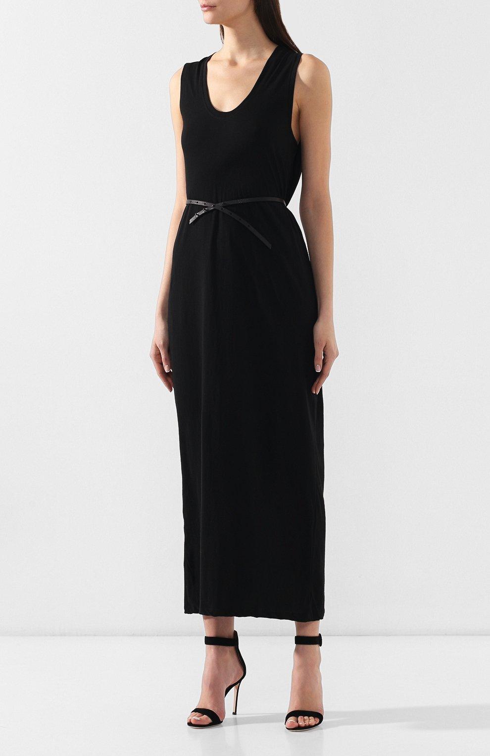 Женское хлопковое платье ISABEL BENENATO черного цвета, арт. DJ14S19 | Фото 3