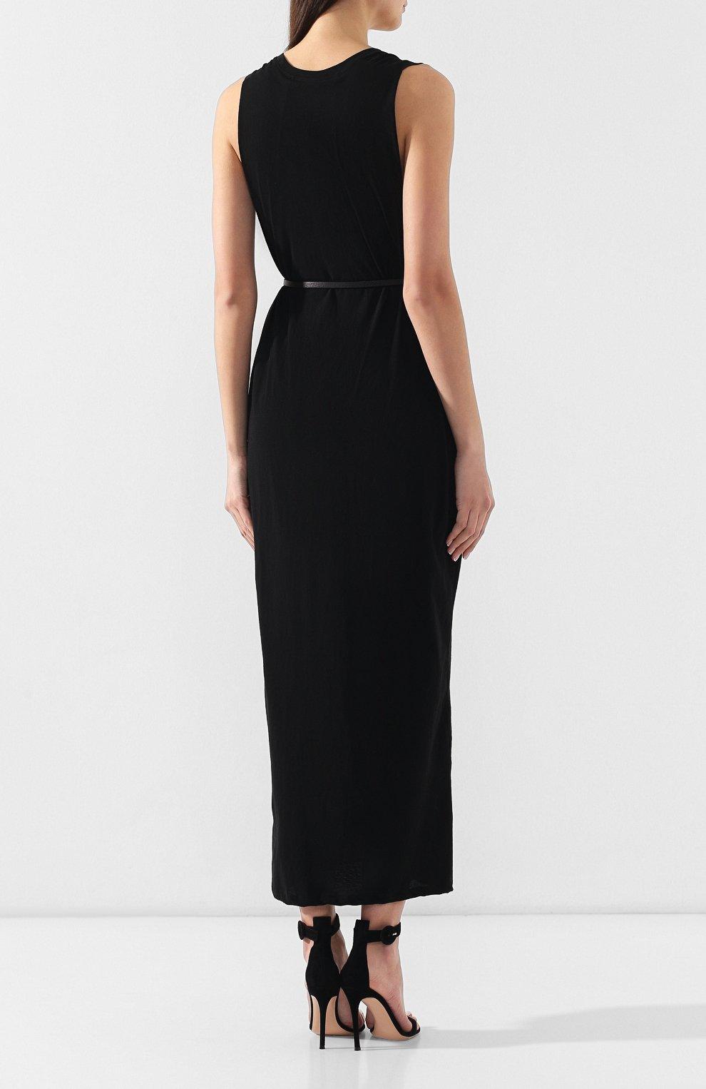 Женское хлопковое платье ISABEL BENENATO черного цвета, арт. DJ14S19 | Фото 4
