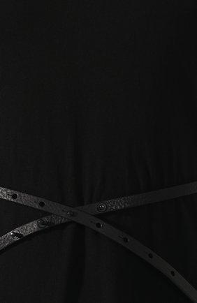 Женское хлопковое платье ISABEL BENENATO черного цвета, арт. DJ14S19 | Фото 5