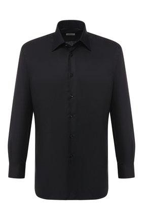 Мужская хлопковая сорочка BRIONI черного цвета, арт. RCLU1Z/PZ023 | Фото 1