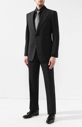 Мужская хлопковая сорочка BRIONI черного цвета, арт. RCLU1Z/PZ023 | Фото 2