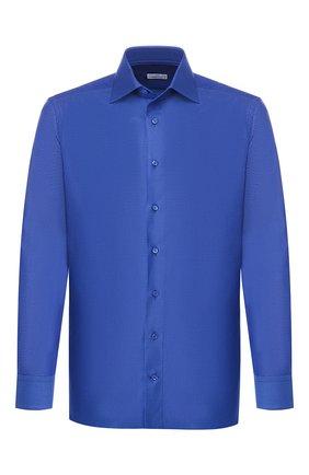 Мужская хлопковая сорочка ZILLI темно-синего цвета, арт. MFR-MERCU-01076/RZ01 | Фото 1