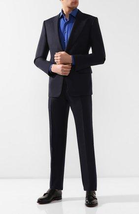 Мужская хлопковая сорочка ZILLI темно-синего цвета, арт. MFR-MERCU-01076/RZ01 | Фото 2