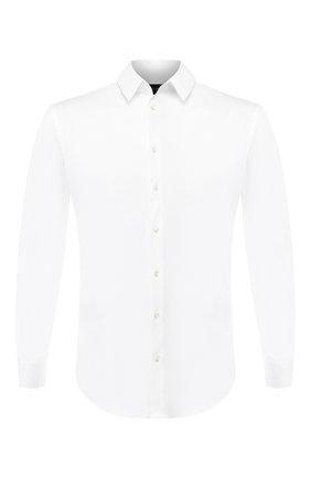 Мужская хлопковая сорочка GIORGIO ARMANI белого цвета, арт. 8WGCCZ97/JZ071 | Фото 1