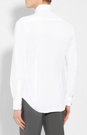 Мужская хлопковая сорочка GIORGIO ARMANI белого цвета, арт. 8WGCCZ97/JZ071 | Фото 4