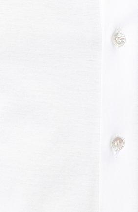 Мужская хлопковая сорочка GIORGIO ARMANI белого цвета, арт. 8WGCCZ97/JZ071 | Фото 5